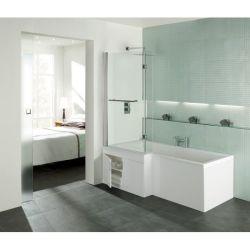 Trojan L-Lusion 1675mm x 850mm Shower Bath - Left Hand