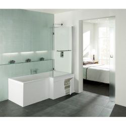 Trojan L-Lusion 1675mm x 850mm Shower Bath - Right Hand