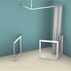Contour WF1 Corner Access Shower Doors - Right Handed