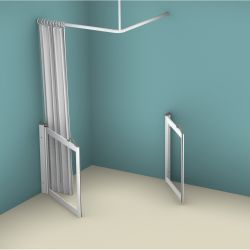 Contour WF2 Corner Access Hinged Shower Doors
