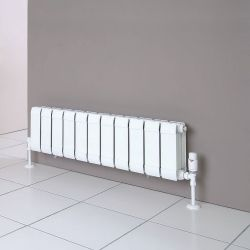 H242mm x W240mm Faral Low Level Flat Front Radiator