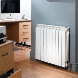 Apollo Modena Flat Aluminium Radiator - Traffic White