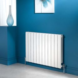 Apollo Modena Horizontal Aluminium Radiator - Traffic White