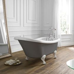 April Eldwick Traditional Freestanding Bath 1500mm x 750mm - Dove Grey