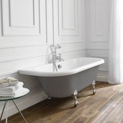 April Kildwick Traditional Freestanding Bath 1700mm x 750mm - Dove Grey