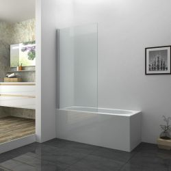 Aqua I 6mm Silver Square Shower Screen 1400mm x 800mm