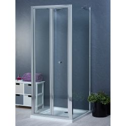 Aqua-I 3 Sided Shower Enclosure - 700mm Bifold Door and 700mm Side Panels
