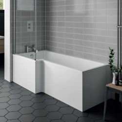 Aqua I 1500mm x 850mm L Shaped Bath With Bath Screen