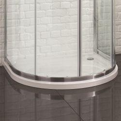 Aquadart U Shape Quadrant Slimline Shower Tray 915mm x 1040mm Flat Top