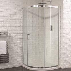 Aquadart Venturi 6 900mm x 900mm Single Door Quadrant And Shower Tray (Includes Free Waste)