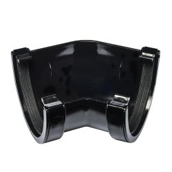 Black 114mm Half Round Deep 135 Degree Gutter Angle