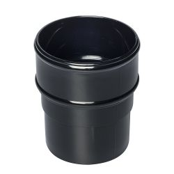 Black 68mm Round Rain Water Pipe Connector