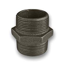 "Black Iron Nipple 1/4"" Male"