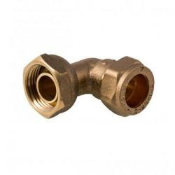 Brass Compression Bent Tap Connector 15mm x 1/2""