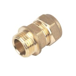 """Brass Compression Male Iron Coupler 15mm x 3/4"""""""