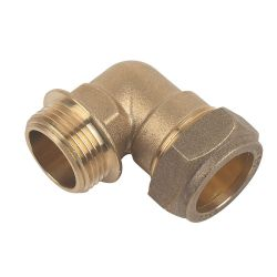 """Brass Compression Male Iron Elbow 35mm x 1 1/4"""""""