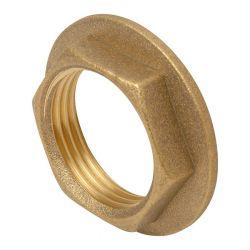 """Brass Flanged Hexagon Backnut 1/2"""""""