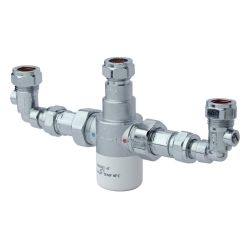 Bristan 15mm Thermostatic Mixing Valve with Isolation Elbows