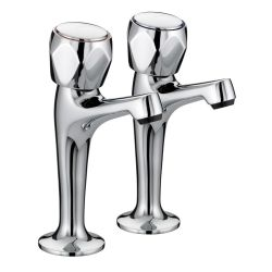 Bristan Club High Neck Pillar Taps - VAC HNK C MT
