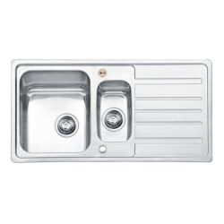 Bristan Index Sink Top 1.5 Bowl Square Steel Universal 970mm