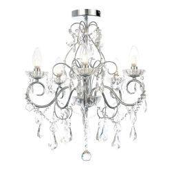 BTL 5 Light Chandelier - Silver