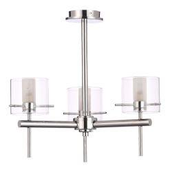 BTL Milano 3 Light Ceiling Pendant - Chrome