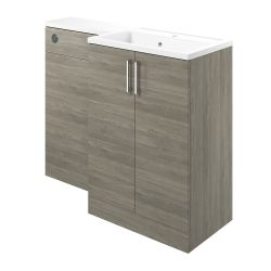 BTL Volta 1100mm Vanity, Basin & WC Pack (RH) - Grey Nordic Wood