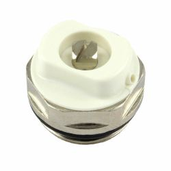 "Chrome 1/2"" Radiator Air Vent - Bleed Plug"