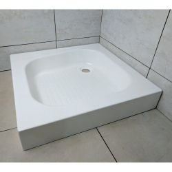Roma Classic Shower Trays Stone Resin Square 610mm x 610mm Flat top