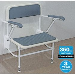 Contour Bariatric Shower Seat 600mm Wide with Arms & Backrest