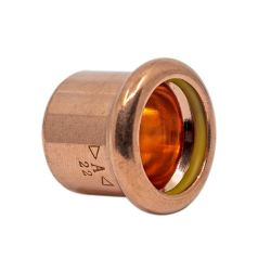 Copper Gas Press-Fit Cap End 15mm