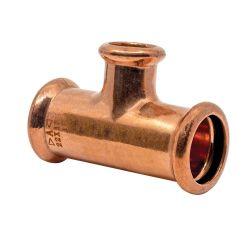 Copper Press-Fit 22 x 22 x 15mm CxCxC Branch Tee