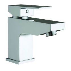Cubex Mono Basin Mixer with Push Button Waste