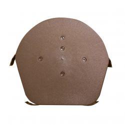 EasyVerge Dry Verge Domed Half Round Ridge Cap / Apex - Brown