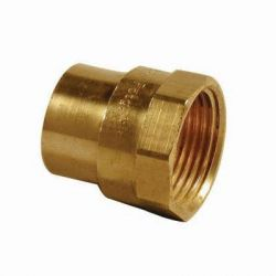 End Feed Female Iron Coupler 15mm x 1/4""