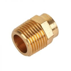 """End Feed Male Iron Coupler 42mm x 1 1/2"""""""
