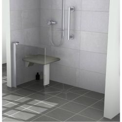 Contour Opulence GD8 Half Height Fixed Panel 200mm - Left Handed