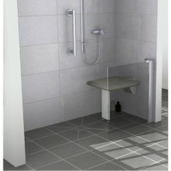 Contour Opulence GD8 Half Height Fixed Panel 200mm - Right Handed