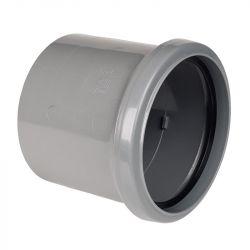 Grey 110mm Pushfit Soil Single Socket Coupler