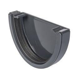 Grey 112mm Half Round External Stopend
