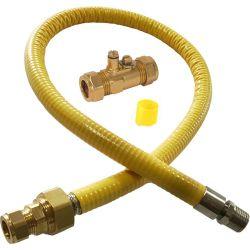 Hobflex+ 1 Meter Semi Rigid Gas Hob Connector & Test Point