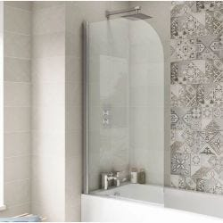 Hudson Reed 6mm Straight Bath Screen