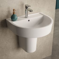 Hudson Reed Luna 520mm Basin & Semi Pedestal