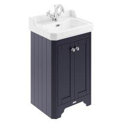 Hudson Reed Old London 560mm Cloakroom Vanity Unit & 1TH Basin - Twilight Blue