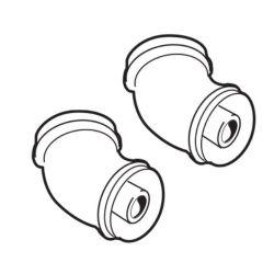 Ideal Pair Of 45 Degree Flue Elbows