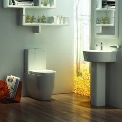 Kartell Genoa Close Coupled Toilet & Basin Suite