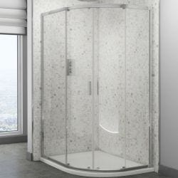 Cassellie SEIS Offset Quadrant Shower Cubicle 900mm x 760mm