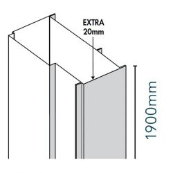 Merlyn Ionic 20mm Express Extension Profile 1900mm