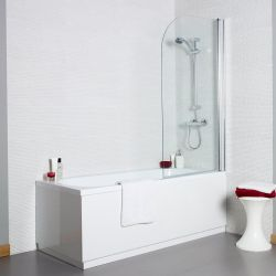 Kartell Koncept Curved Bath Screen 1400mm x 780mm