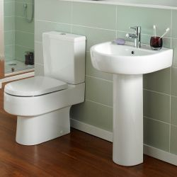 Roma Luxor Close Coupled Toilet & Basin Suite